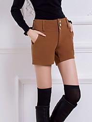 De las mujeres Pantalones Cortos - Casual Rígido - Piel
