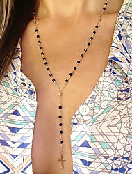 Women's Pendant Necklaces Crystal Alloy Cross Fashion Simple Style Screen Color Jewelry