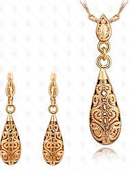 Набор украшений Мода 18K золото Свисающие Золотой Для Для вечеринок Особые случаи День рождения Свадебные подарки