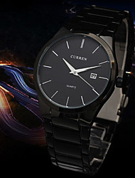 Men's Watch Dress Watch Calendar Quartz Steel Band