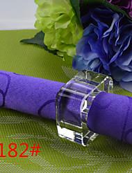 6Pcs Tetragonal Crystal Napkin Ring