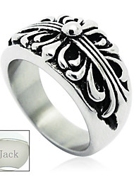 Personalized Father's Day Gift Jewelry Stainless Steel Silver The Cross Pattern Men's Ring
