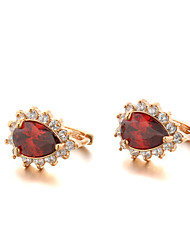 Sjeweler Female Fashion Gold-Plated Micro-inserts Zircon Earrings