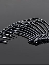 10pcs Barbed Black Nickel Hook Wide Belly Crank Hooks for Soft Bait Fishhooks Fishing Tackle anzuelos niquel