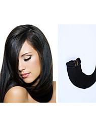 10pcs / lot 16inch / 40cm 100g / pack mehrere Farboptionen gerade Clip in Haarverlängerung grade5a Menschenhaarverlängerung