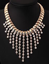 Nadi Women's European High Quality Fashion Gemstone Tassel Necklace