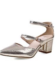 Women's Shoes Heel Heels / Pointed Toe Sandals / Heels Office & Career / Dress / Casual Black / Silver / Gold