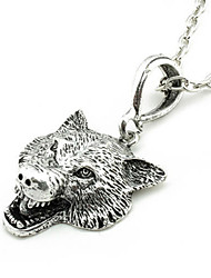 Women's Fashion Jewelry Vintage Casual Alloy Punk Wolf Pendant Necklace