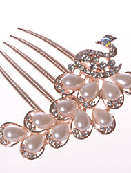 Phoenix Alloy Hair Combs With Imitation Pearl/Rhinestone Wedding/Party Headpiece