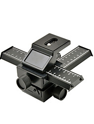 MENGS® Mcoplus Plateau Panoramic 3D - 4 Way Macro Focusing Rail Slider / Close-Up Shooting For Digital SLR Camera And DC