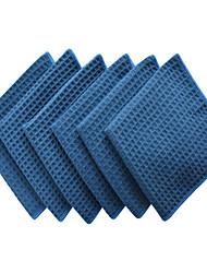 """SINLAND gruesos paños de microfibra waffle plato armadura paños paños faciales 380gsm 13 pack-6 """"x13"""""""