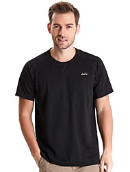 Clothin Men Quick Dry Comfort Outdoor Sports Short Sleeve Round Collar  Casual T-shirt