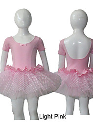 Light Pink Cotton/Lycra Leotards with Veil Skirts for Ladies and Girls