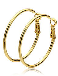 Hoop Earrings Gold Gold Jewelry 2pcs