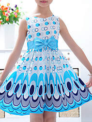 Girl's Korean Version of The Peacock  Dress