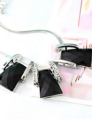 New Arrival Fashional Simple Popular Geometric Rhinestone Gemstone Necklace