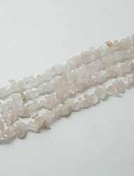 "Beadia Rose Quartz Stone Beads 5-8mm Irregular Shape DIY Loose Beads For Making Necklace Bracelet 34""/Str"