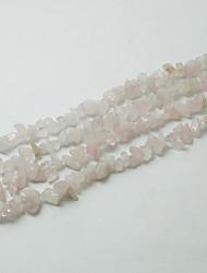 """beadia subiu contas de pedra de quartzo 5-8mm forma irregular DIY pérolas soltas para fazer pulseira colar 34 """"/ str"""