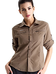 Clothin Women Long Sleeve Sportswear T Shirt Jaunt Camping Apparel Khaki
