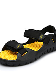 Men's Shoes Outdoor / Casual Fabric Sandals Black / Blue / Brown / Yellow