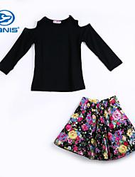CANIS@Elegant Princess Baby Girls' Tops + Floral Skirt Set