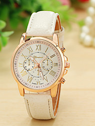 12 Colors New Fashion Leather Strap Watch Geneva Watches Women Dress Watches Quartz Wristwatch Watches Relojes Cool Watches Unique Watches