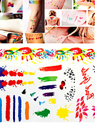 1 PC Tattoos Sticker Watercolor Mixed  for Body Makeup S004