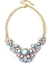 Women's Statement Necklaces Resin Alloy Drop Fashion Jewelry Wedding Party Daily Casual 1pc