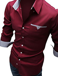 Thomas Men's Casual Shirt Collar Long Sleeve Casual Shirts