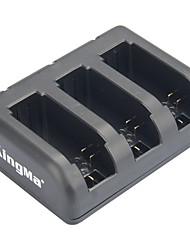 Kingma 3-slot chargeur de batterie pour AHDBT-201 / AHDBT-301 / AHDBT-401 / Héros gopro 3 / 3+ / 4 - noir