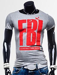 Informeel MEN - T-shirts ( Katoenmengeling )met Korte Mouw