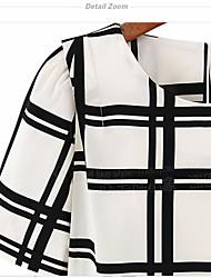 Fashion Top Sale sexy Lady Women's Grid Stripe Sleeveless Chiffon Blouse shirt