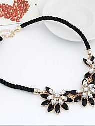 Women's Choker Necklaces Statement Necklaces Alloy Flower Sunflower Fashion Statement Jewelry White Yellow Blue Pink Jewelry