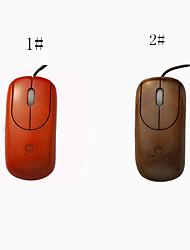 A4Tech buena quanlity artesanal ratones ratón de madera con cable