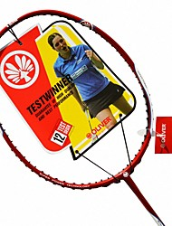 Men/Unisex/Women/Kids Badminton Rackets Low Windage/High Elasticity/Durable Red 1 Piece Carbon Fiber