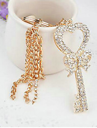 Key Shape Rhinestone Wedding Keychain Favor