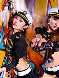 Sexy Cool Girl Zweireiher Militäruniform Dance Costume (4 Stück)