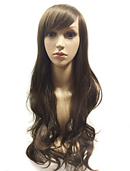 When the Beautiful Popular High Quality It is Long Curly Brown Hair Wigs