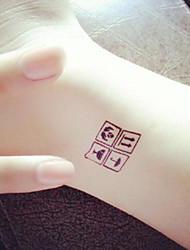 Warning Signs Be Careful Tattoo Stickers Temporary Tattoos(1 Pc)