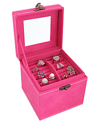 Lavie®Rose Red Velvet Jewelry Box Three Small, Easy to Travel to Carry Organize Admission