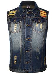 Men's Sleeveless Jacket , Denim Casual
