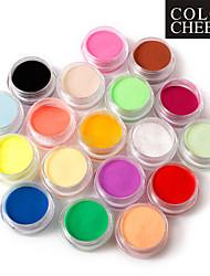 18 Farben-Nagel-Kunst-Skulptur Acryl Pulver 110g