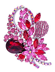 Women's Jewelry Rhinestone Flower Brooch Broach Pins  (More Colors)