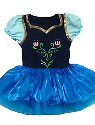 Vestidos(Azul,Gasa / Algodón / Tul,Ballet) -Ballet- paraNiños Arrugas drapeadas Representación