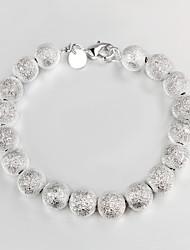chapado en plata informal con cuentas pulsera brazalete de 2015 nuevo diseño de la joyería más vendido