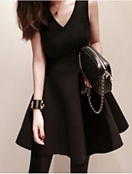 Daisy Women's Fashion Bodycon/Beach/Party V-Neck Sleeveless Dress