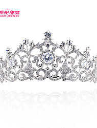 Neoglory Jewelry Flower Tiara Crown Hair Combs for Bridesmaid Bridal Wedding with Clear Austrian Rhinestone