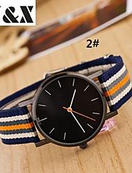 Women's Fashion Diamond Strip Quartz Analog Nylon Belt Wrist Watch(Assorted Colors) Cool Watches Unique Watches