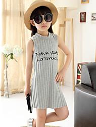 Vestido Chica de - Verano - Algodón - Sin Mangas