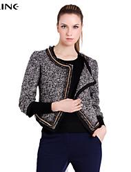 ALINE®Women's Casual/Work Medium Long Sleeve Short Blazer (Wool/Polyester)